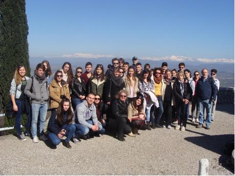 Studenti di Gorizia e di Budapest sul San Michele