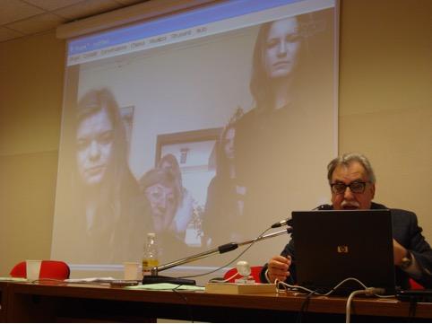 Pittalis durante il collegamento skype con Cracovia