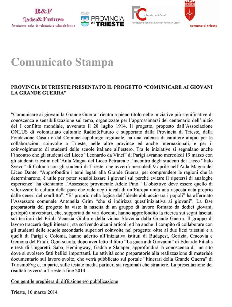 conferenza stampa, COMUNICATO.doc